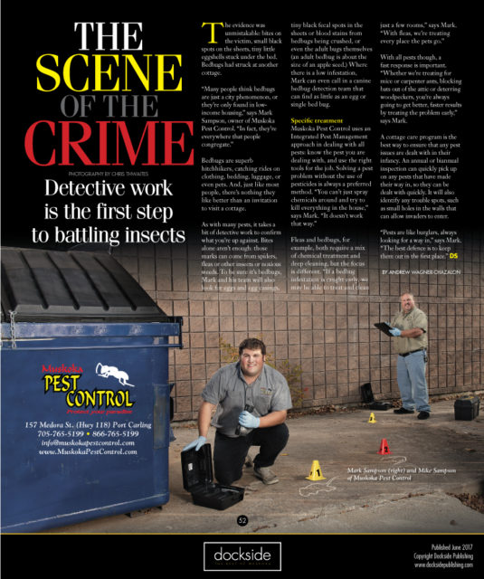 The Scene of the Crime - Detective work is the first step to battling insects, bedbugs and other pests